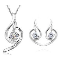 Wholesale 100 Silver AAA Jewelry Sets for Women Soft Angle sets Solid Silver JN02BJE284B