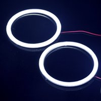 Wholesale 85mm V V COB Angel Eyes Halo Rings Bulb Lamps LED Chip Car Headlight Super Bright Waterproof