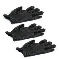 exam gloves - COFA Nitrile Exam Gloves Piercing Powder Latex Black with Box S