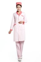 medical scrubs - 2015 OEM nurse uniform beauty salon physician service lab coat cotton medical nursing doctor scrub set uniform