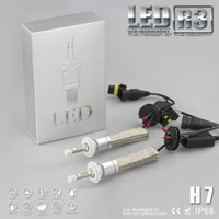 Wholesale Super Bright LM H7 Xenon White K Car LED Headlight Conversion Lamp Kit Cree XHP W lm Bulb