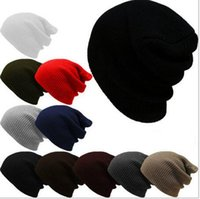 adult ski suit - Pure color in the fall and winter pinstripe suit head cap Male lady warm hat Europe and the United States outdoor skiing knitted hats