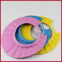 Wholesale Adjustable Shampoo Bath Shower Cap protect Shampoo for baby health Bathing bath waterproof caps kid children Wash Hair Shield Hat