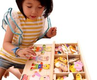 Wholesale Children s early education wooden jigsaw puzzle Dressing game Baby wooden puzzle toys change clothes