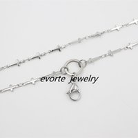 Wholesale 24 inches Stainless steel cross chain floating locket chains necklace chain