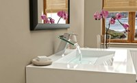 bathroom architecture - Architecture gt faucets valves Single Handle Bathroom Chrome Glass Waterfall ML Mixer Tap Faucet