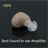 Wholesale NEW Best Sound In ear Amplifier Super MINI Hearing Aid Aids device Adjustable Tone personal ear care tools High quality Gift