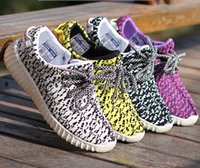 Cheap 2016 Children Yeezy Running Shoe Athletic Shoe Spring Children Fashion Breathable Shoe 4Colors Running Shoe Size 25-37 Shoe E7621
