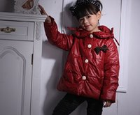 Wholesale 2015 Lovely Bowknot Embellished Single Button Kid s Coat Purplish Red