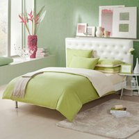 Wholesale contracted AB edition double color matching cotton twill bedding sets duvet cover sheet bedspread pillowcase