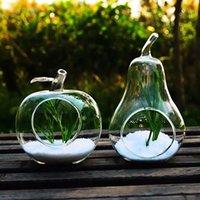 wooden planter - Creative Apple Pear Shape Clear Glass Vase Planter Hydroponic Pot Home Wedding Decor Cute decor plastic pots