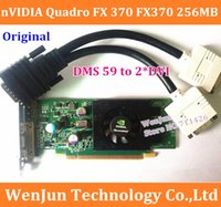 Wholesale Original Quadro FX370 MB bit video card PCI E DMS include DMS to DVI cable DMS warranty year order lt no track