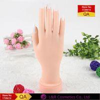 artificial limbs - Nail Art Simulation Model Professional Artificial Limbs Bendable Rubber Fake Hand Nail Tips Display Tools