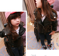 kids leather jackets - New Autumn Kids Jackets Boys Girls Leather Jacket Children s Outwear Fashion Leather Coat Black Coats A4177