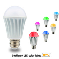 Wholesale WIFI RGB Colorful Lights Intelligent LED Music Light Bulbs Wall Lamps Running Android IOS