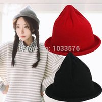Wholesale New Fashion Womens Mini Hip Hot Cap Hats Felt Top Hat Wool Bucket Hat Topper