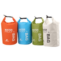 Wholesale 5L Ultralight Outdoor Camping Travel Rafting Waterproof Dry Bag Swimming Travel Kits Orange White Green Blue