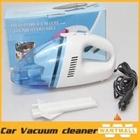 Wholesale wet and dry mini Portable Peacock white blue High Power Vacuum Cleaner A W DC V for Car Cleaning