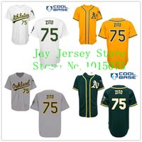 barry zito - 30 Teams Barry Zito Jersey Cool Base Oakland Athletics Home Away White Green Yellow Gary Uniforms