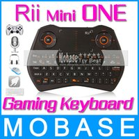 Wholesale Rii Mini ONE i28 RT MWK28 GHz Wireless Gaming Keyboard Air Mouse Touchpad MIC Audio Chat for Laptops Desktops TV Box Mini PC
