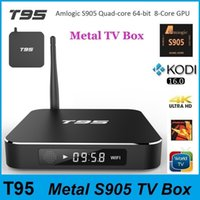 Wholesale T95 Amlogic S905 TV Box KODI Android5 Quad Core GB GB WIFI Megabox Metal Mini PC Better Than MXQ M8S MXIII