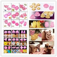 Wholesale 2 DIY Cartoon Various Cookie Fondant Cake Sugarcraft Decorate Plunger Cutter Mold Tools