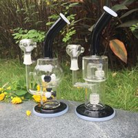 amber hair - Car Styling Brazilian Virgin Hair Newest Amber Double Recycler Glass Smoking Pipes Curved Neck Bong Oil Rig Water Pipe