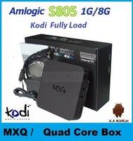 Wholesale Genuine S805 MXQ Kodi Smart TV BOX Amlogic Quad Core Media Player Android G G Google Play Mini PC