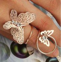 Wholesale 2015 Fashion Lady Girl Nail ring Sweet Beauty Nail Art Women Rhinestone Rings Fashion alloy rhinestone butterfly ring jewelry