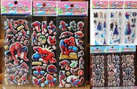 Wholesale Many designs Children Cartoon Stickers Bubbles stick Spiderman frozen PVC puffy stickers