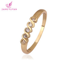 Wholesale foreign trade Han Feng hand decorated with professional Austria Crystal Rose Gold Diamond Ring