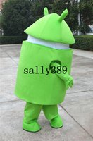 Free Size android fancy - hot android robot Mascot High quality Cartoon Costume green Character Customize Adult fancy dress party carnivalparade