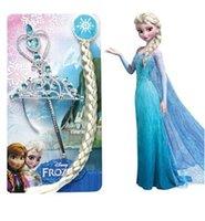 tiaras for kids - Frozen Anna Elsa Princess Tiara Crown Hair Band Magic Wand For Children Girl Cartoon for Kids Christmas to United States