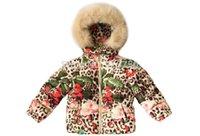 Wholesale Wl Monsoon Children Down Parkas Christmas Girls Down Jacket Leopard Pattern Faux Fur Hooded Kids Winter Outwear Girls Outerwear Coat Y