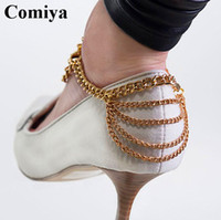 aqua high heels - Fashion new luxuries gold chain anklets for women zinc alloy european charming high heeled shoes anklet foot jewelry