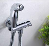 Cheap Luxury Toilet Bidet Faucet Handheld Portable Wash Cleaner Hose Sprayer Shattaf WC Toilet Shower Jet Set Female Urinal Flush Tap Furniture