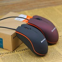 Wholesale Lenovo M20 USB Optical Mouse Mini D Wired Gaming Manufacturer Mice For Computer Laptop Notebook With Retail Box Free DHL Shipping