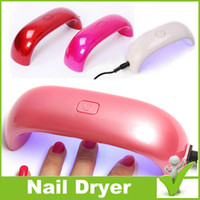 led nail lamp - Mini USB W LED UV Nail Dryer Curing Lamp Machine Gel Nail Polish Powerful UV Lamp Light Nail Polish Fast Dry Colors