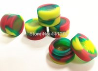 Wholesale Non Stick Wax Extract BHO Silicone Concentrate Oil round Container VARIOUS COLORS