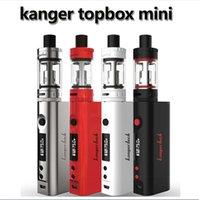 authentic enhance - kanger original topbox mini Starter Kit Strengthen Pyrex Glass Enhance Arr flow valve Max W Output Box MOD Authentic