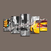 Домашний декор Холст 5 Панель Картина на холсте из Нью-Йорка стены искусства Живопись картина Artwork Большие отпечатки на холсте - Поп-арт Живопись
