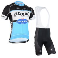 bicycle wear - 2015 new arrival quickstep cycling jereys jersey short sleeves with bib none bib pants bicycle wear bike clothing padded cycling BLUE color