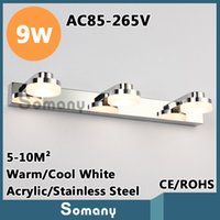 bedroom dressing tables - Wall Sconce W Modern Stainless Steel Hareware Acrylic Led For Mirror W AC85 V Warm Cool White Dressing Table Bedroom Study