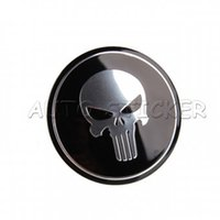 Wholesale 56mm Car Styling Punisher Skull Car Wheel Center Hub Cap Sticker Emblem Decal For Ford Chevrolet Cruze Volkswagen Honda Hyundai Kia Focus