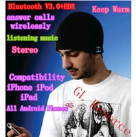 Wholesale Christmas Gifts Bluetooth Beanie Hat Wireless Gym Headphones Stereo Music Bluetooth Headset Hat Handfree DH04