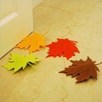 baby door decor - Baby Safety Door Stopper Baby Protecting Product New Maple Autumn Leaf Home Decor Finger Safety DoorStop Door Stopper MC