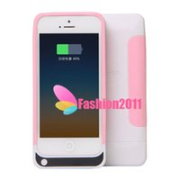 Wholesale 2014 New Soft TPU Silicon Power Bank mah Battery Backup Charger Case Emergency Power Charger for iphone s four Colors