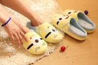 Wholesale New Minions Slippers Women Winter Floor Slipper Despicable Me Home Flats Christmas Gift KF006