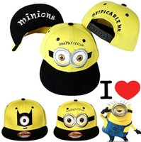 baseball action figures - Despicable Me3 Minion Kids Adults Ball Cap Action Figure Fashion Baseball Cap Snapback Hiphop Adjustable Hat hip hop hats Free DHL