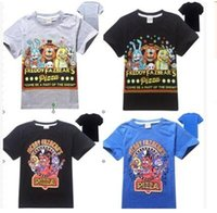 Wholesale 2016 Five Nights at Freddy s FNAF Children T Shirts For Kids Summer Short Sleeved Boy T shirts At Freddys Boys Clothing top1272